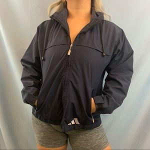 adidas Jackets & Coats - Vintage Adidas Navy Zip Up Windbreaker